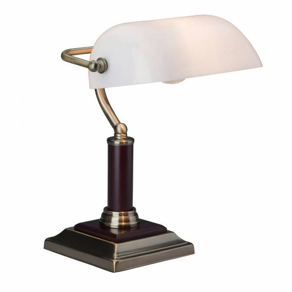 elegante bank lampe schreibtischlampe glasschirm metall. Black Bedroom Furniture Sets. Home Design Ideas