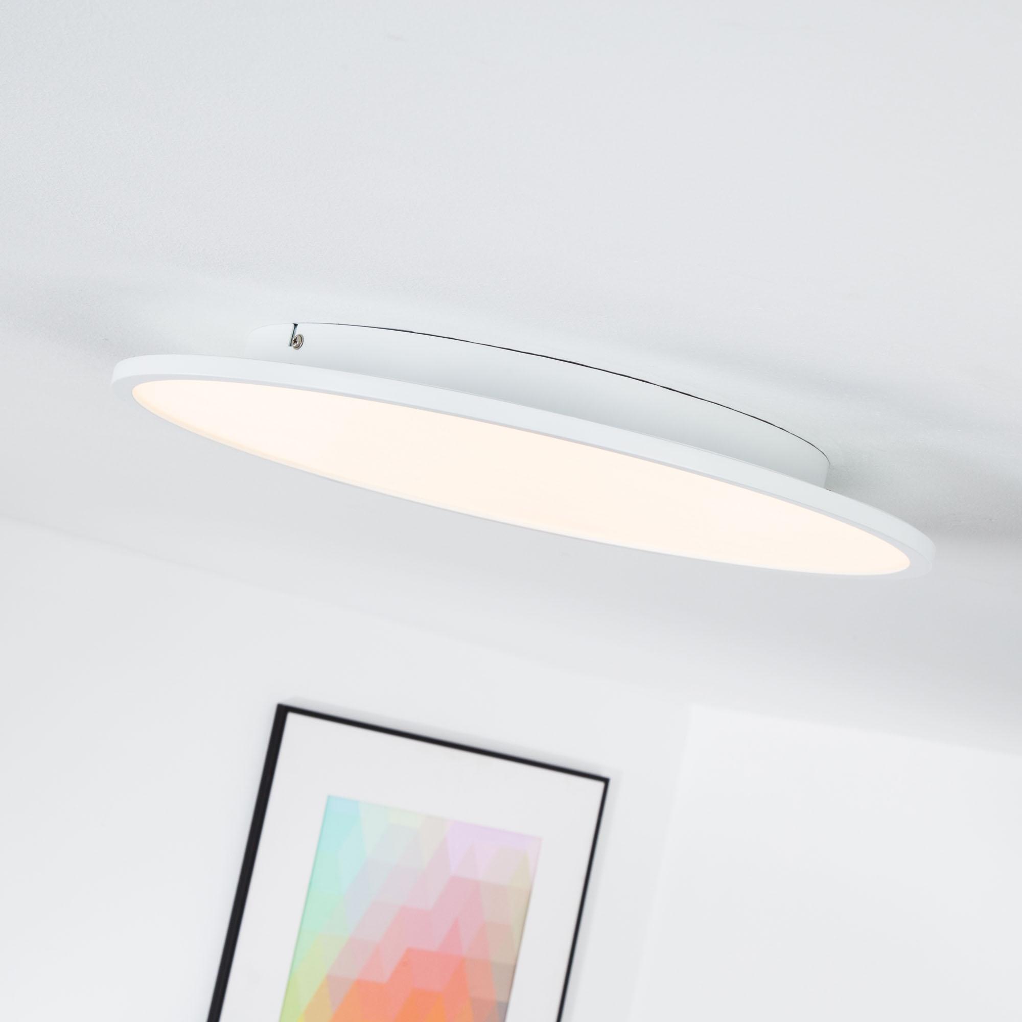 led panel f r deckenaufbau dimmbar 45 cm rund 1x 30w led integriert 3000 lumen 3000k. Black Bedroom Furniture Sets. Home Design Ideas