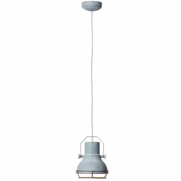 Pendelleuchte, 1-flammig, 1x E27 max. 40W, Metall, grau Beton