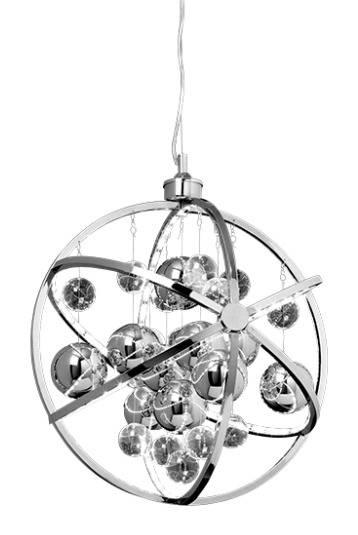 Lightbox dekorative Pendelleuchte im modernen Stil, energiesparend durch LED-Technik, höhenverstellbare Kette, 10 Watt, Metall/Glass - Chrom