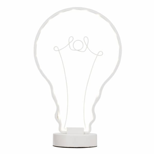 LED Tischleuchte, 1x 6W LED integriert, 1x 300 Lumen, 4000K, , Metall, weiß