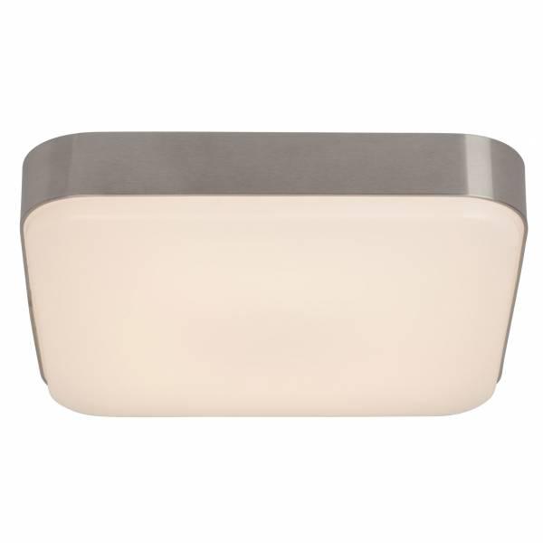 LED Wand- und Deckenleuchte quadratisch 1.350 Lumen, warmweiß 3.000K, 22W - 34cm x 34cm, Aluminium / Kunststoff, anthrazit / weiß