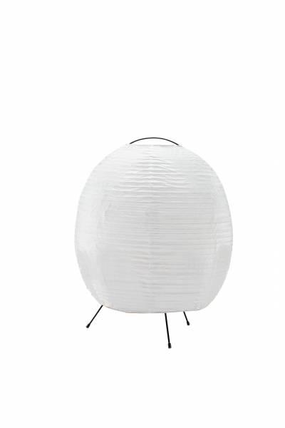 Tischleuchte, 1x E27 max. 40W, Metall / Reispapier, weiß / schwarz