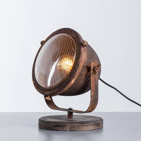 Tischleuchte, 1x E27 max. 40W, , Metall / Holz, rost / schwarz