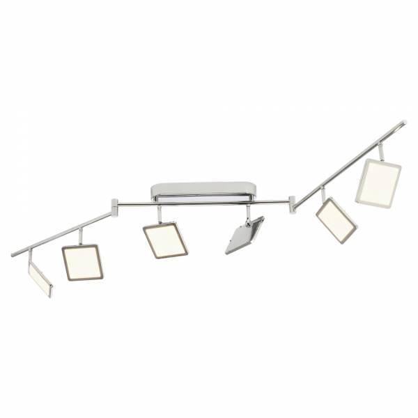 LED Spotbogen, 6-flammig (Z-Form), 6x 5W LED integriert, 6x 500 Lumen, 3000K, , Metall / Kunststoff, chrom