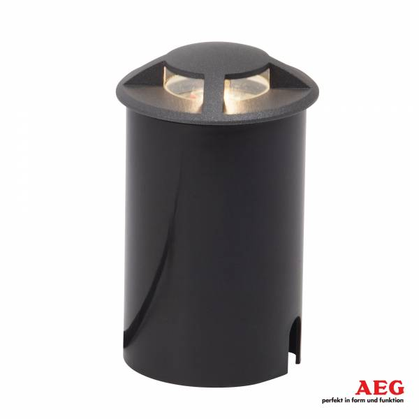LED Bodeneinbauleuchte, IP67, 1x 3W LED integriert, 1x 200 Lumen, 3000K warmweiß, Aluminium / Glas / Kunststoff, anthrazit