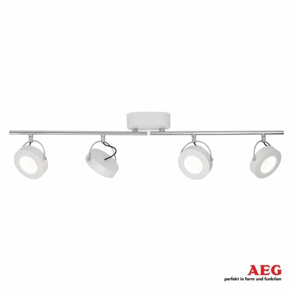 AEG LED Spotrohr, 4-flammig, drehbar, 4x 5W LED integriert, 4x 500 Lumen, 3000K, , Alu-Druckguss, weiß