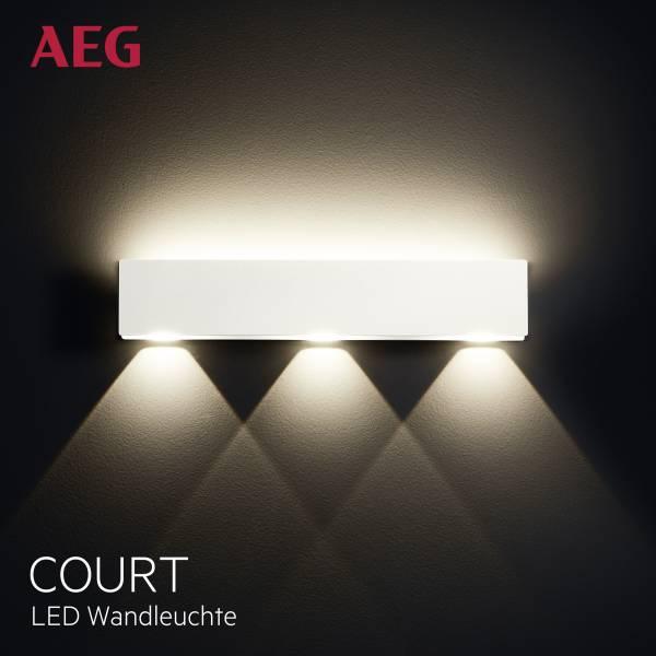 AEG LED Wandleuchte, Up/Down, 1x 10W LED integriert (SMD-Chip)