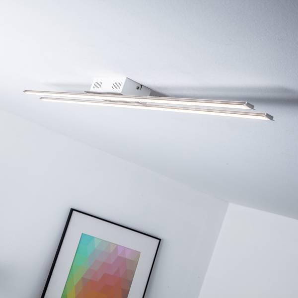 LED Deckenleuchte im modernen Design, 21W, 1470 Lumen, 3000K warmweiß, Metall / Acryl, eisen