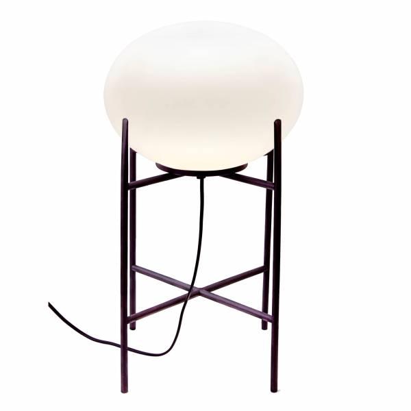 Tischleuchte, 1x E27 max. 60W, , Glas / Metall, schwarz / weiß