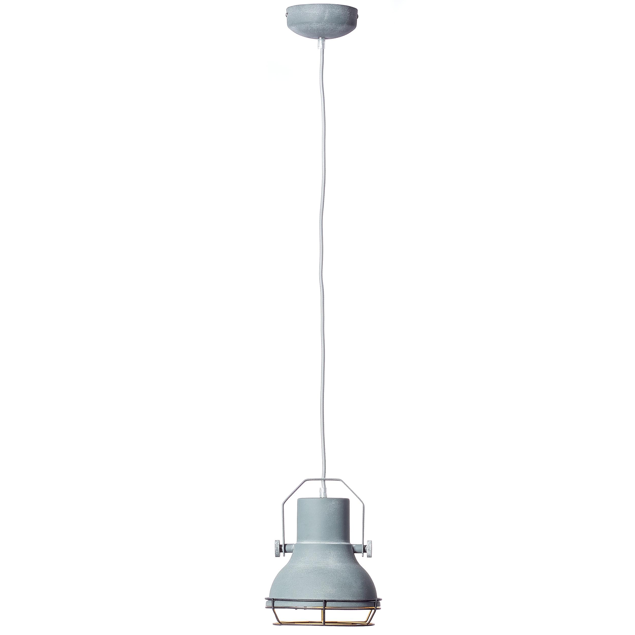 pendelleuchte 1 flammig 1x e27 max 40w metall grau beton lightbox leuchten onlineshop. Black Bedroom Furniture Sets. Home Design Ideas