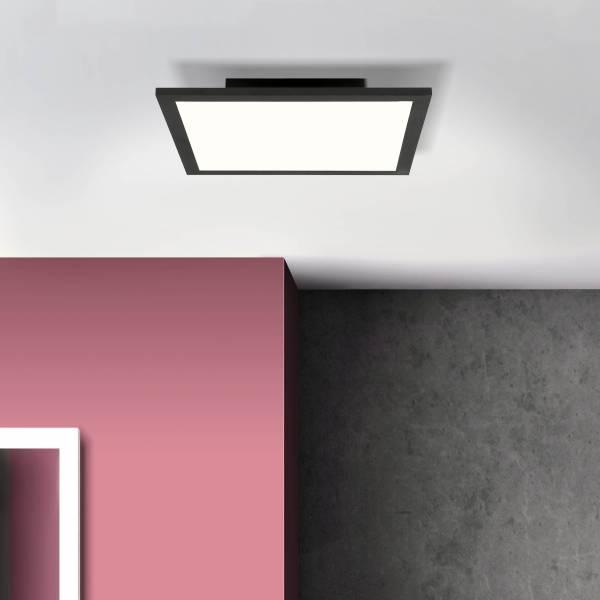 LED Deckenaufbau-Paneel 30x30cm, 18 Watt, 4000 Kelvin; Metall / Kunststoff, Schwarz / Weiß
