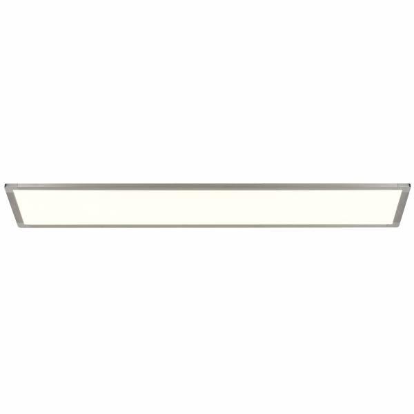 LED Deckenaufbau-Panel, 1x 92W LED integriert, 1x 4650 Lumen, 3000K, , Aluminium / Kunststoff, öl silber lackiert / weiß