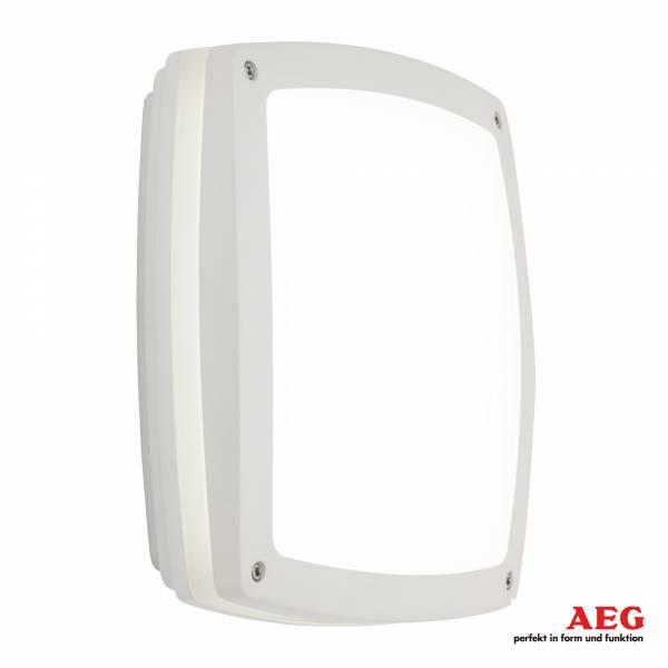LED Wand- und Deckenleuchte quadratisch 1.450 Lumen, kaltweiß 4.000K, 20W - 30cm x 30cm schlagfest, Aluminium / Kunststoff, weiß