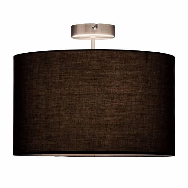 Deckenleuchte, 1x E27 max. 60W, Metall / Textil, eisen / schwarz