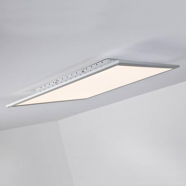 LED Panel 42W Deckenleuchte inkl. Fernbedienung, 60 x 60cm, 3.310 Lumen, dimmbar, 2700-6500K, Metall / Kunststoff, alu / weiß