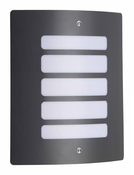 Außenwandleuchte, 1x E27 max. 60W, Metall / Kunststoff, anthrazit