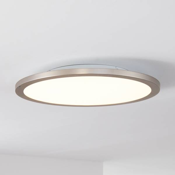 Smarte LED Panel Deckenleuchte per App steuerbar, 50cm, 36 Watt, 2800 Lumen, 2700-6200 Kelvin aus Metall / Kunststoff in nickel eloxiert