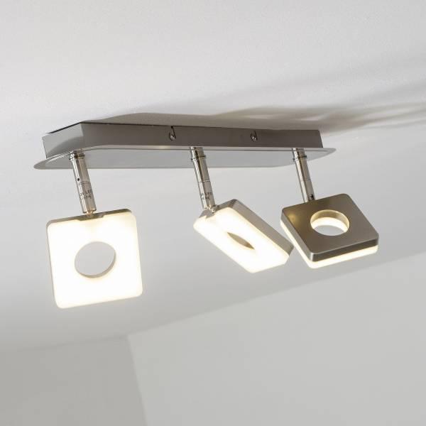 LED Spotrohr, 3-flammig, 3x 6W LED integriert, 3x 480 Lumen, 3000K, Metall / Kunststoff, eisen
