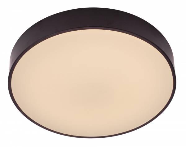 Moderne 42W LED Deckenleuchte inkl. Fernbedienung, dimmbar, Ø 59 cm, 3000 - 6000K, 3000 Lumen, Metall / Kunststoff, weiß / schwarz