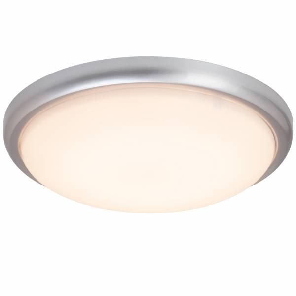 LED Wand- und Deckenleuchte, 1x 20W LED integriert, 1x 1200 Lumen, 2800K, , Metall / Kunststoff, titan / weiß