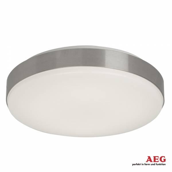 AEG 22W LED Deckenleuchte im schlichten Design, Alurand, 34 x 34 cm, 1550 Lumen, 4000K, Aluminium / Kunststoff, anthrazit / weiß