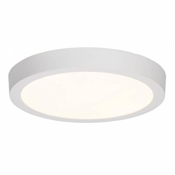 Moderne 24W LED Deckenleuchte im schlichten Design rund, 2.160 Lumen, 3000K, Ø 29,5cm, Metall / Kunststoff, weiß