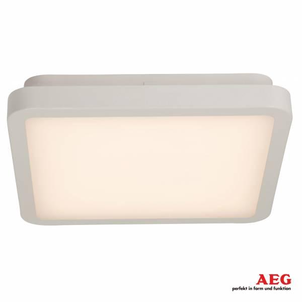 AEG 20W LED Deckenleuchte im schlichten Design, 1400 Lumen, 3000K warmweiß, Metall / Kunststoff, weiß