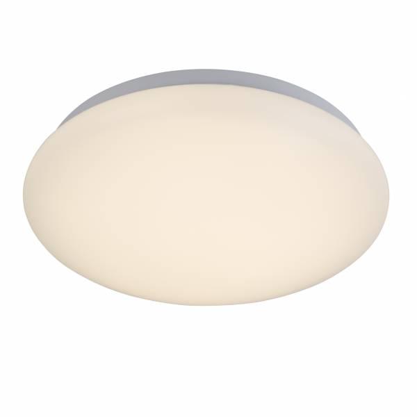 LED Wand- und Deckenleuchte, 1x 10W LED integriert, 1x 1000 Lumen, 3000K, Kunststoff / Metall, weiß