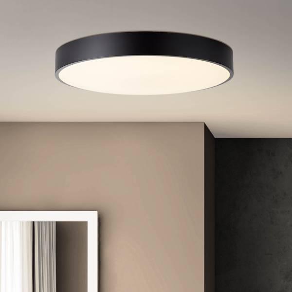 LED Deckenleuchte 49cm, 1x 60W LED integriert, 1x 4800 Lumen, 3000-6000K, Metall / Kunststoff, weiß / schwarz