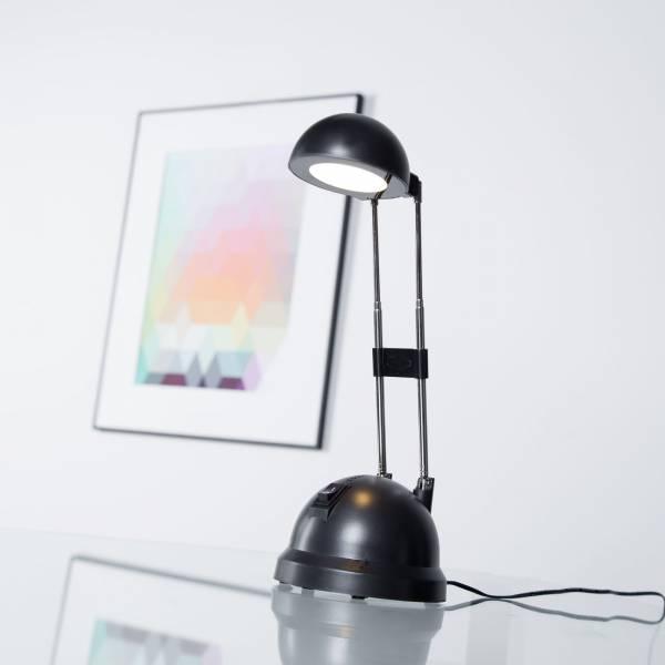 LED 8,3W Schreibtischleuchte mit Teleskophals 20 - 44 cm Höhe, 600 Lumen, 2700K warmweiß, Metall / Kunststoff, schwarz