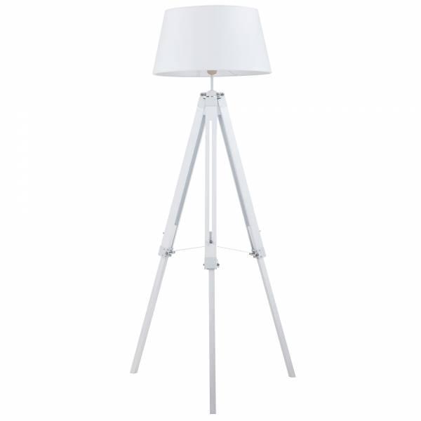 stehleuchte stehlampe mit textilschirm stativ tripod dreibein holz h 145 cm ebay