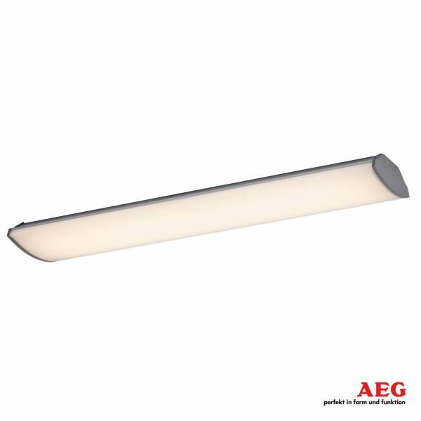 AEG 25W LED Office Deckenleuchte / Büroleuchte, B: 62,6 cm, 1650 Lumen, 3000K warmeiß, Aluminium / Kunststoff, weiß