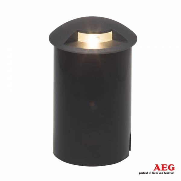 LED Bodeneinbauleuchte, IP67, 1x 3W LED integriert, 1x 200 Lumen, 3000K warmweiß, Aluminium / Kunststoff / Glas, anthrazit