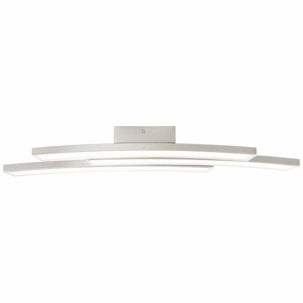 LED Wand- und Deckenleuchte, 3-flammig, 3x 9W LED integriert, 3x 700 Lumen, 3000K, , Metall / Kunststoff, nickel matt