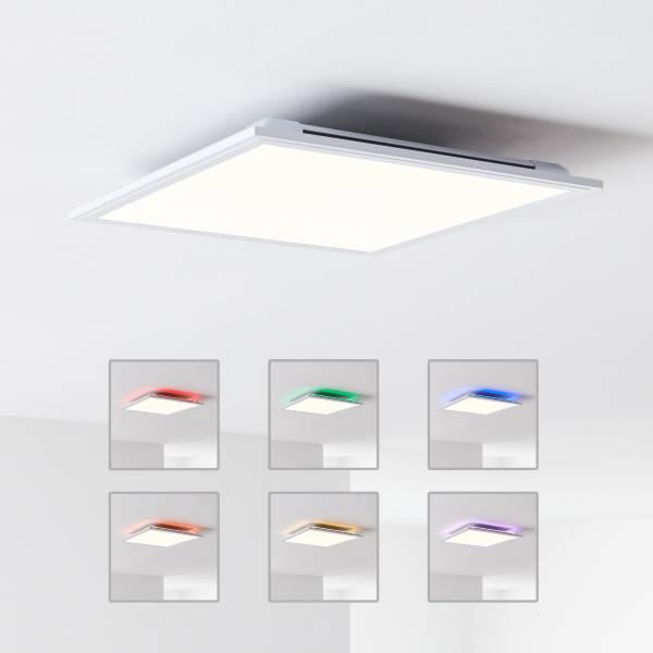 LED Deckenaufbau-Paneel 40x40cm, 1x 24W LED integriert, 1x 2000 Lumen, 2700-6500K, Metall / Kunststoff, weiß