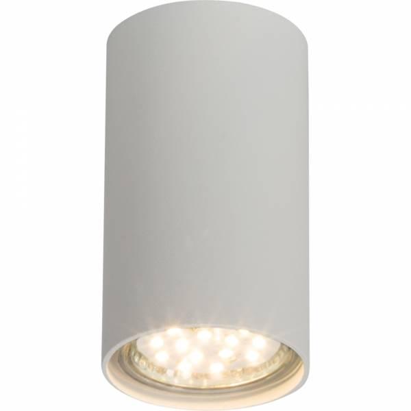 Moderner Deckenspot / Deckenleuchte im minimalistischen Design, 1x GU10 max. 35W, Metall, weiß