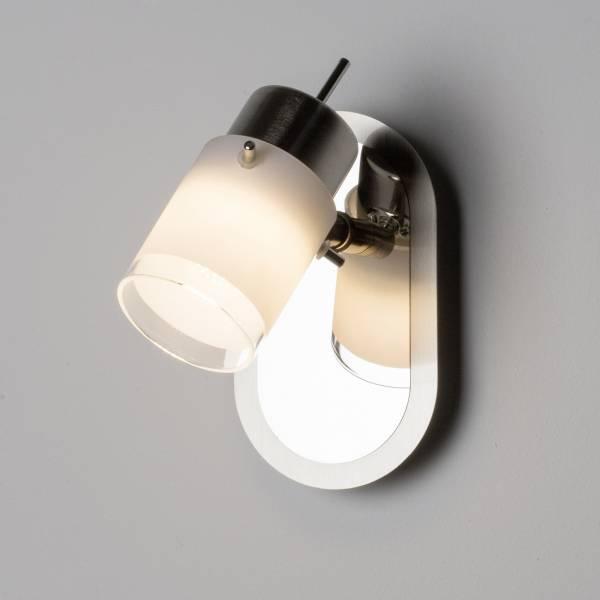 LED Wandspot, 1x 4W LED integriert, 1x 400 Lumen, 3000K, Metall / Glas, eisen
