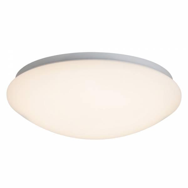 LED Wand- und Deckenleuchte, ø 30cm, 12 Watt LED integriert, 800 Lumen, 3000K warmweiß, Metall / Kunststoff, weiß