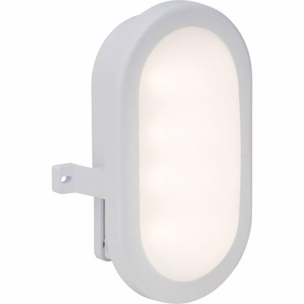 Funktionale LED Außenwandwandleuchte, 6W LED integriert, 450 Lumen, 4200K , Kunststoff, weiß