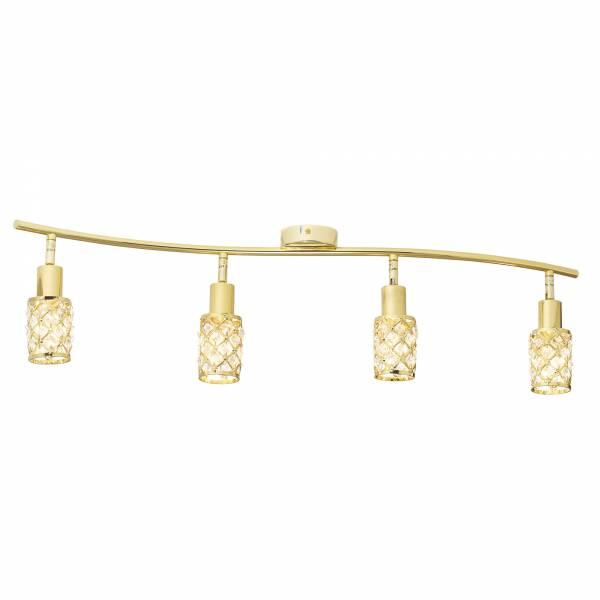 Deckenleuchte, 4-flammig, 4x E14 max. 40W, Metall, gold