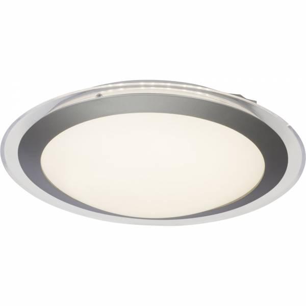 LED Wand- und Deckenleuchte, 1x 12W LED integriert, 1x 805 Lumen, 3000K, , Kunststoff / Metall, weiß / silber