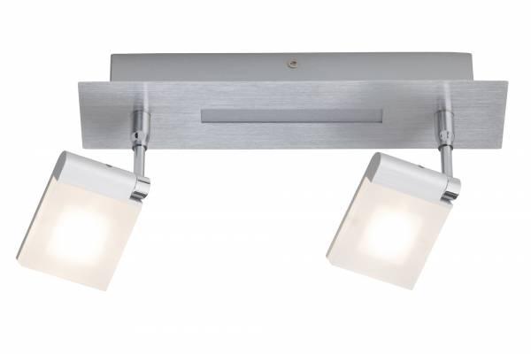 LED Deckenleuchte im modernen Design, 2x 6W LED integriert, 840 Lumen, 3000K warmweiß, Breite: 28 cm, Metall / Kunststoff, eisen