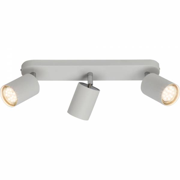 Moderner Spotbalken / Deckenleuchte im minimalistischen Design, 3x GU10 max. 35W, Metall, weiß