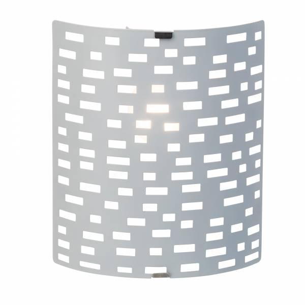 Wand- und Deckenleuchte, 1x E14 max. 40W, Metall / Kunststoff, weiß