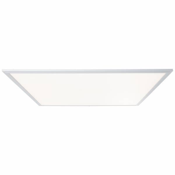 Smarte LED Deckenleuchte/lampe per App steuerbar, 75x75cm, 1x 58W LED integriert, 1x 5100 Lumen, 2700-6500K, Metall / Kunststoff, alu / weiß