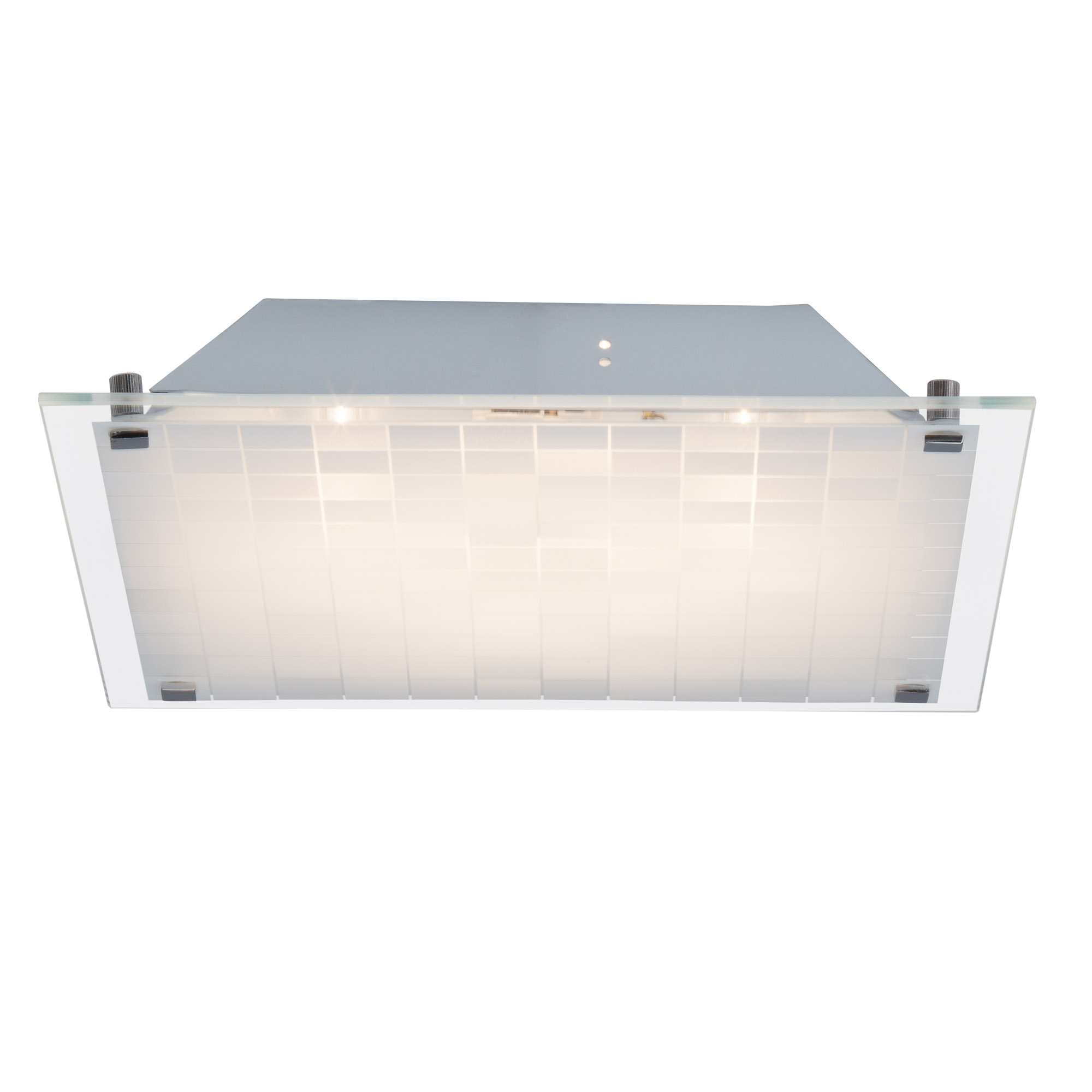 led wand und deckenleuchte quadratisch 30x30cm wei 10w 750lm 3000k warmwei metall glas. Black Bedroom Furniture Sets. Home Design Ideas