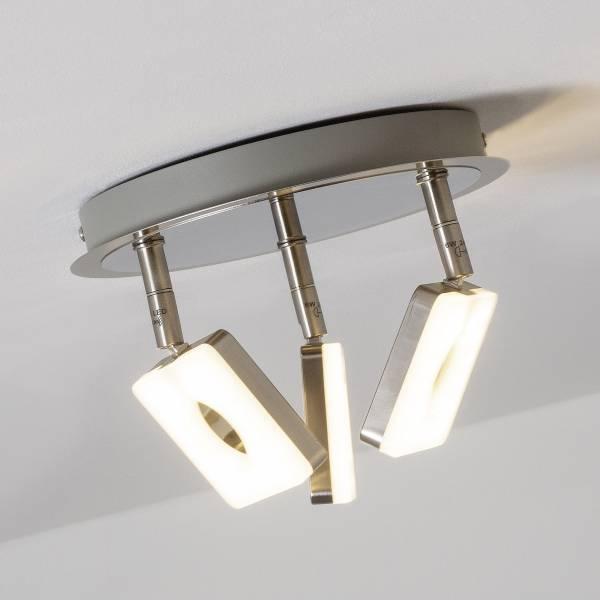 LED Spotrondell, 3-flammig, 3x 6W LED integriert, 3x 480 Lumen, 3000K, Metall / Kunststoff, eisen