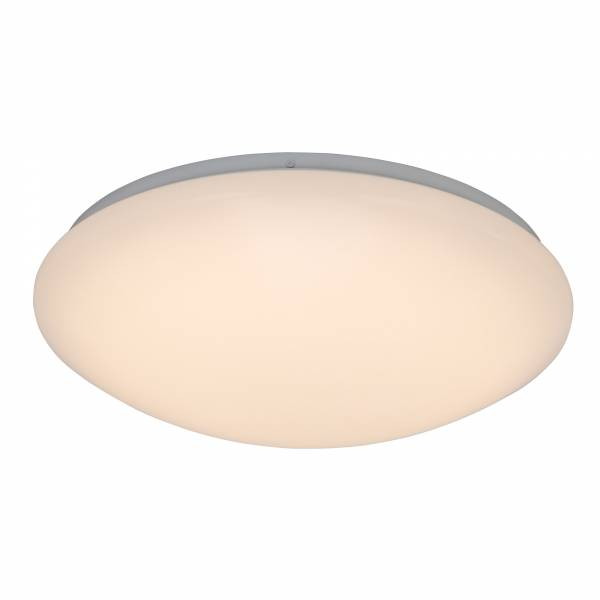 Schlichte LED Wandleuchte / Deckenleuchte, Ø 37,5 cm, IP44 Spritzwassergeschützt, 1x 20W LED integriert, 1300 Lumen, 3000K warmweiß, Kunststoff / Metall, weiß