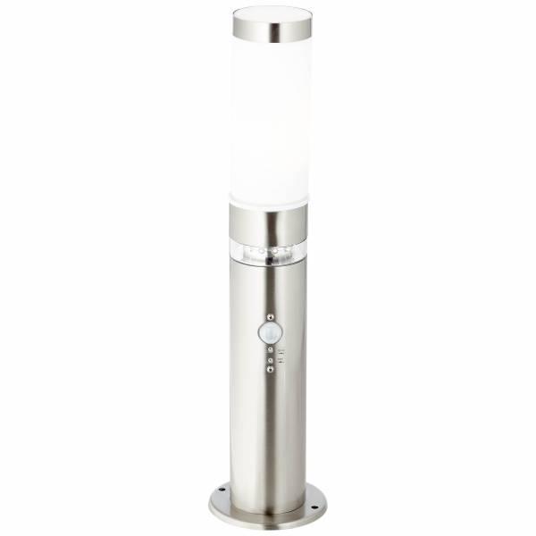 Außensockelleuchte mit Bewegungsmelder, 1x E27 max. 60W, , Metall / Kunststoff, edelstahl